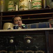 Fitzpatrick's traditional herb store, also Britain's last original temperance bar, in Rawtenstall, Lancashire, United Kingdom<br />