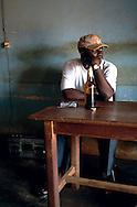 A man in a bar in Yokadouma, South East Cameroon.