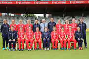 Lancashire Thunder full squad during the media day for Lancashire Thunder at the Emirates, Old Trafford, Manchester, United Kingdom on 17 July 2018. Picture by George Franks.
