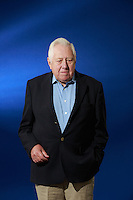 Edinburgh International Book Festival 2013 portait of Roy Hattersley at Charlotte Square Garden<br /> <br /> Pic by Pako Mera