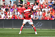 Jack Hunt (32) of Bristol City during the EFL Sky Bet Championship match between Bristol City and Nottingham Forest at Ashton Gate, Bristol, England on 4 August 2018. Picture by Graham Hunt.