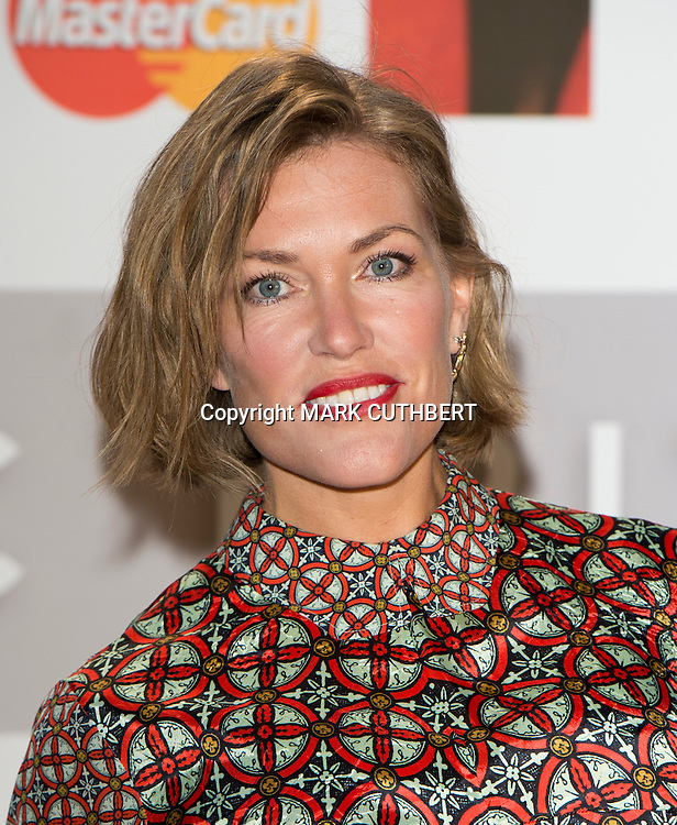 Cerys Matthews arriving at the 2012 Classic Brit Awards at the Royal Albert Hall in London.