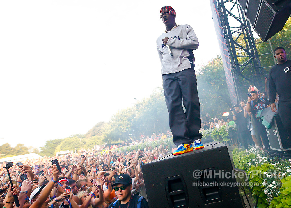 CHICAGO, IL - AUGUST 06: Lil Yachty performs at Grant Park on August 6, 2017 in Chicago, Illinois. (Photo by Michael Hickey/Getty Images) *** Local Caption *** Lil Yachty