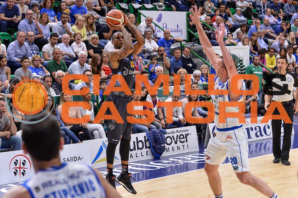 Joao Gomes<br /> Banco di Sardegna Dinamo Sassari - Dolomiti Energia Aquila Basket Trento<br /> Legabasket Serie A LBA Poste Mobile 2016/2017<br /> Playoff Quarti Gara3<br /> Sassari 16/05/2017<br /> Foto Ciamillo-Castoria