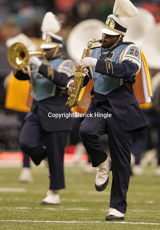 2008 November, 29: The Southern University band performs during a 29-14 victory by Grambling State University over Southern University during the 35th annual State Farm Bayou Classic at the Louisiana Superdome in New Orleans, LA.  .