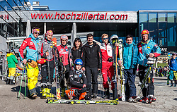 02.04.2018, Skizentrum Hochzillertal, Kaltenbach, AUT, JumpandReach Skitag, im Bild Christian Deuschl, Mario Seidl, Stefan Kraft, Martha Schultz, Maximilian Schultz, Michael Hayboeck, Patrick Murnig, Dominik Terzer // during the Skiing Day after the Winterseason with the Austrian JumpandReach Athletes at the Skiresort Hochzillertal, Austria on 2018/04/02. EXPA Pictures © 2018, PhotoCredit: EXPA/ JFK