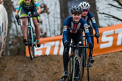 GUNSALUS Lizzy (USA) during Women Elite race, 2019 UCI Cyclo-cross World Cup Heusden-Zolder, Belgium, 26 December 2019.<br /> <br /> Photo by Pim Nijland / PelotonPhotos.com <br /> <br /> All photos usage must carry mandatory copyright credit (Peloton Photos | Pim Nijland)