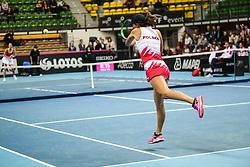 February 6, 2019 - Zielona Gora, Poland - Iga Swiatek (POL) during Tennis 2019 Fed Cup by Paribas Europe/Africa Zone Group 1  match between Poland and Russia  in Zielona Gora, Poland, on 7 February 2019. (Credit Image: © Foto Olimpik/NurPhoto via ZUMA Press)