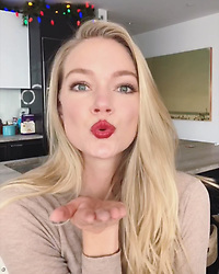 """Lindsay Ellingson releases a photo on Instagram with the following caption: """"Friday night glam! The holidays are my favorite time a year for bold lip! I like to keep it fresh with an effortless bronze smokey eye \ud83d\udc8b@wander_beauty"""". Photo Credit: Instagram *** No USA Distribution *** For Editorial Use Only *** Not to be Published in Books or Photo Books ***  Please note: Fees charged by the agency are for the agency's services only, and do not, nor are they intended to, convey to the user any ownership of Copyright or License in the material. The agency does not claim any ownership including but not limited to Copyright or License in the attached material. By publishing this material you expressly agree to indemnify and to hold the agency and its directors, shareholders and employees harmless from any loss, claims, damages, demands, expenses (including legal fees), or any causes of action or allegation against the agency arising out of or connected in any way with publication of the material."""