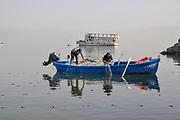 Fishing on the Sea of Galilee, Israel