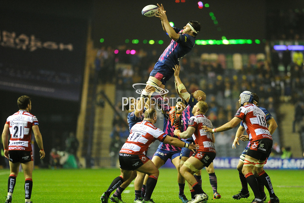 Stade Francais were dominant in the lineout during the European Rugby Challenge Cup match between Gloucester Rugby and Stade Francais at BT Murrayfield, Edinburgh, Scotland on 12 May 2017. Photo by Kevin Murray.