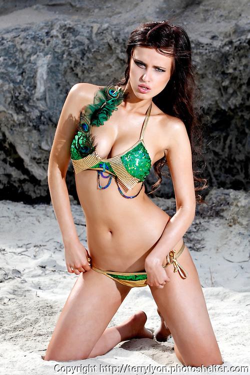 Cassandra beach and studio shoot Terry Lyon