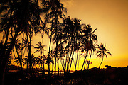 Sunset, Mahaiula Beach, Kekaha Kai State Park, Kona, Island of Hawaii, Hawaii