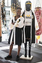 © Licensed to London News Pictures. 08/02/2018. London, UK. World and Olympic boxing champion NICOLA ADAMS MBE launches a range of sports clothing with Everest Worldwide to be sold exclusively in Selfridges department store. The main collection consists of 10 pieces including long line hoodie's, crew necks, and t-shirts, providing casual wear for use either on the way to the gym or other leisure activities. Photo credit: Ray Tang/LNP