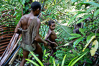 Out hunting in the forest. West Papua is home to over 300 tribes. They have inhabited the island for more than 40,000 years. Many of the last remaining tribal cultures on our planet can be found in West Papua. An astounding 15% of the world's languages are spoken there, by just 0.01% of the global population.