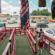 HIALEAH, FLORIDA - JUNE 24, 2016<br /> Entrance to Noooo (&ntilde;oooo) Que Barato,  in Hialeah, Florida. The store sells all kinds of goods and is a very popular stop for Cubans who are traveling to Cuba to stock up on supplies to carry to relatives in the island nation.<br /> (Photo by Angel Valentin/Freelance)