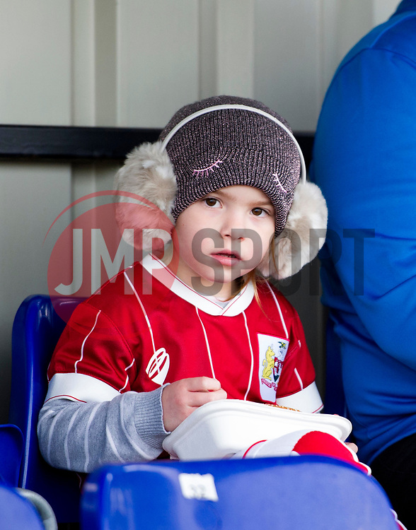 Young supporter at Stoke Gifford Stadium - Mandatory by-line: Paul Knight/JMP - 28/10/2017 - FOOTBALL - Stoke Gifford Stadium - Bristol, England - Bristol City Women v Reading Women - FA Women's Super League