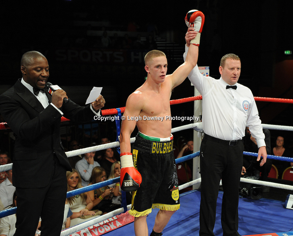 Karl Place (pictured) defeats Michael Grant for a 6 x 3 min round Light Welterweight contest at Olympia, Liverpool on the 11th June 2011. Frank Maloney Promotions.Photo credit: Leigh Dawney 2011