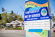 Laguna Beach Transit Temporarily Out of Service Signage