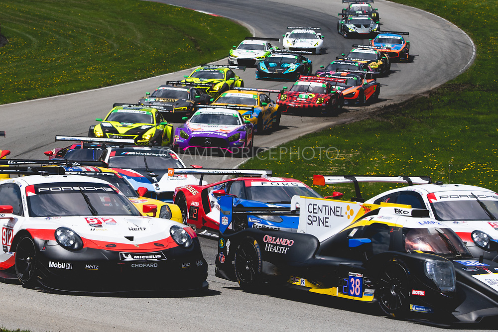 May 5, 2019: IMSA Weathertech Mid Ohio. Start of the IMSA Mid Ohio race