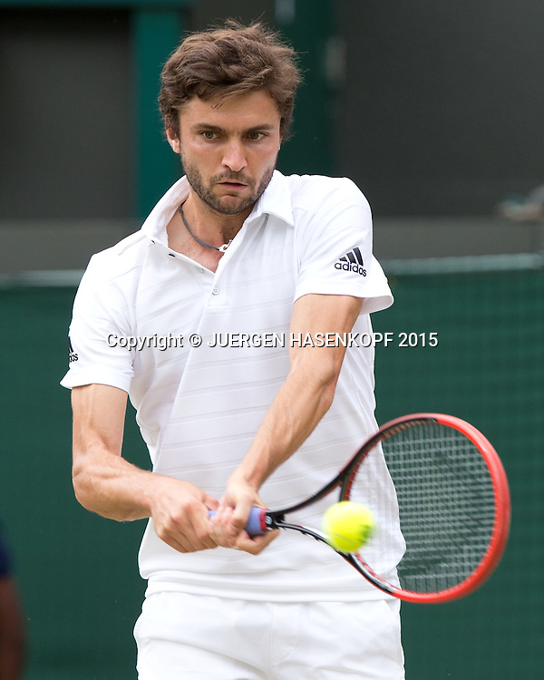 Gilles Simon (FRA)<br /> <br /> Tennis - Wimbledon 2015 - Grand Slam ITF / ATP / WTA -  AELTC - London -  - Great Britain  - 8 July 2015.