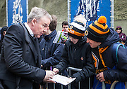 Wolverhampton Wanderers Manager Kenny Jackett signs autographs for fans before the Sky Bet Championship match between Brighton and Hove Albion and Wolverhampton Wanderers at the American Express Community Stadium, Brighton and Hove, England on 1 January 2016. Photo by Bennett Dean.