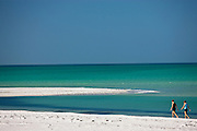 Vacationers on the beach at Anna Maria Island, Florida, United States of America