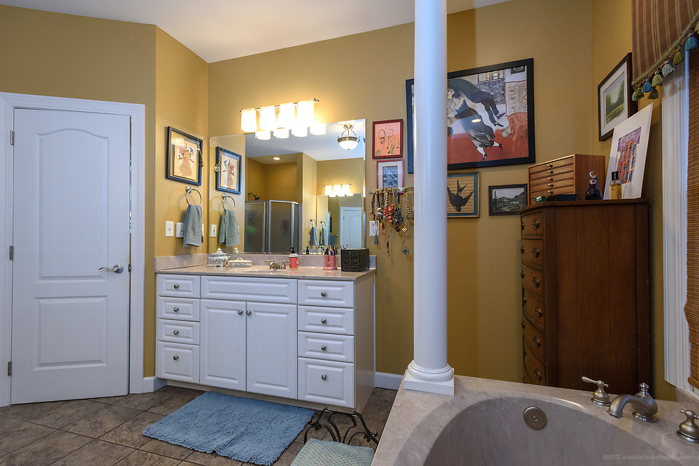 The master bathroom at the home of Kristen and David Embry in Pendleton, Ky. Feb. 22, 2018
