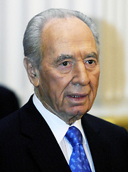 File photo dated 18/11/08 of former Israeli President Shimon Peres, who has died aged 93.