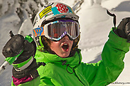 Eleven year old Parkin Costain enjoying a sunny day at Whitefish Mountain Resort in Montana model released