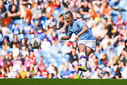 Manchester City Women midfielder Keira Walsh (24) passes the ball during the FA Women's Super League match between Manchester City Women and Manchester United Women at the Sport City Academy Stadium, Manchester, United Kingdom on 7 September 2019.