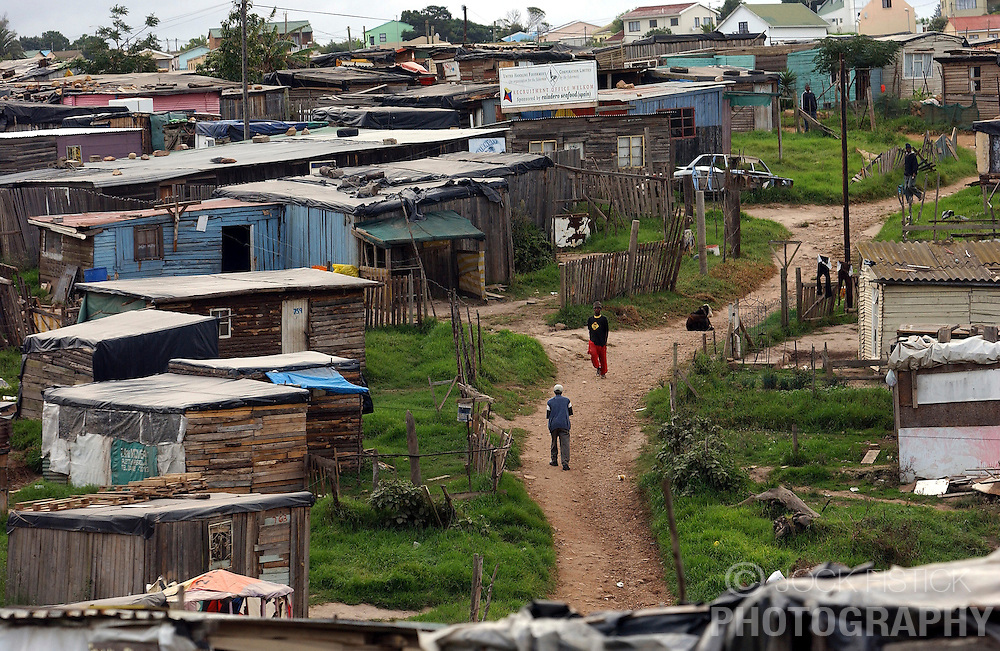 SOUTH AFRICA - Despite ten years of living under a democratically elected government, most blacks still live in extreme poverty and HIV / AIDS is the largest health problem in the country. (PHOTO © JOCK FISTICK).