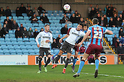 John O'Sullivan (18) of Bury  during the Sky Bet League 1 match between Scunthorpe United and Bury at Glanford Park, Scunthorpe, England on 19 April 2016. Photo by Ian Lyall.
