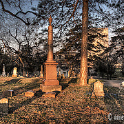 Union Cemetery at Sunrise, part of the Union Hill neighborhood near downtown Kansas City MO