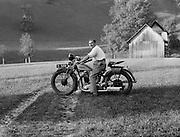 Carl Beirut, Chauffeur of Piesslinger on Motorcycle, Gstadt-Molln, Austria, c1933