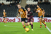 Hull City midfielder Kamil Grosicki (14) runs with the ball during the EFL Sky Bet Championship match between Hull City and Swansea City at the KCOM Stadium, Kingston upon Hull, England on 22 December 2018.