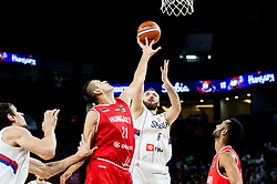 Kemal Karahodzic of Hungary vs Milan Macvan of Serbia during basketball match between National Teams of Serbia and Hungary at Day 11 in Round of 16 of the FIBA EuroBasket 2017 at Sinan Erdem Dome in Istanbul, Turkey on September 10, 2017. Photo by Vid Ponikvar / Sportida