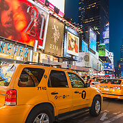 Taxis in Times Square, New York