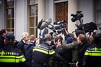 Den Haag, 8 maart 2017 -  PVV-lijsttrekker Geert Wilders demonstreert bij de Turkse ambassade. De protestactie is gericht tegen de campagne die de Turkse regering in Nederland wil houden<br /> Foto: Phil Nijhuis