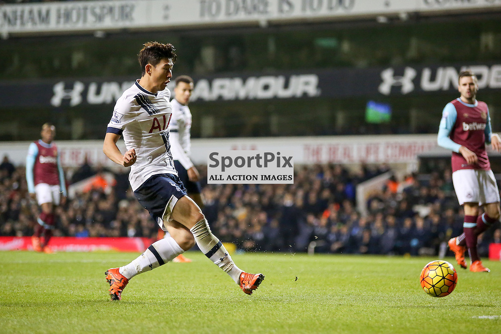 Heung min son During Tottenham Hotspur vs West Ham United on Sunday the 22nd November 2015.