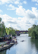 Maidenhead. Berkshire. United Kingdom. General view across the River, from Maidenhead Bridge, towards Maidenhead RC Boathouse. 2017 Maidenhead Junior Regatta  River Thames. [©Peter SPURRIER/Intersport Images] Sunday. 14.05.2017