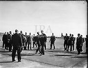 The Duke of Edinburgh at Shannon Airport.<br /> 14.03.1961