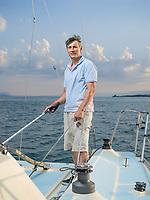 Yvan Ravussin, navigateur. Morges, 1er juillet 2018.