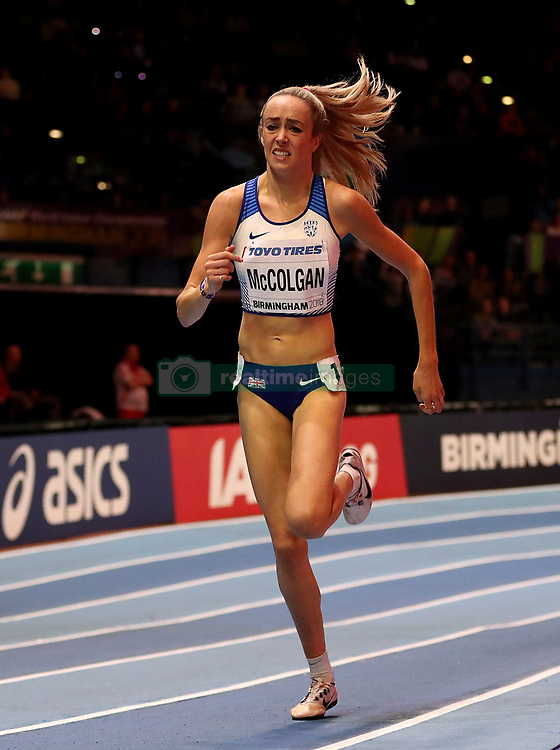 Great Britain's Eilish McColgan during the Women's 1500m Heat 2 during day two of the 2018 IAAF Indoor World Championships at The Arena Birmingham.