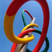 Needle and thread sculpture, Piazza Cadorna, Milan, Italy