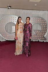 Left to right, AMBER LE BON and YASMIN LE BON at the GQ Men Of The Year 2014 Awards in association with Hugo Boss held at The Royal Opera House, London on 2nd September 2014.