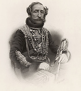 James Thomas Brudenell, seventh Earl of Cardigan (1797-1868) English cavalry officer; major-general 1847. Commanded the light cavalry brigade in Crimean War, which was destroyed in the infamous 'charge' at Balaclava, 1854, which is immortalised in Tennyson's poem 'The Charge of the Light Brigade'. Engraving.