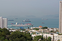 HK harbor seen from Pok Fu Lam, Hong Kong