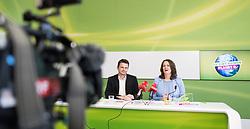 06.06.2017, Grüner Parlamentsklub, Wien, AUT, Grüne, Pressekonferenz zur Penarvorschau und aktuellen Themen. im Bild v.l.n.r. Klubobmann der Grünen Albert Steinhauser Nationalratsabgeordnete der Grünen Christiane Brunner // f.l.t.r. Leader of the parliamentary group of the greens Albert Steinhauser and Member of Parliament of the greens Christiane Brunner during media conference of the parliamentary group the greens in Vienna, Austria on 2017/06/06. EXPA Pictures © 2017, PhotoCredit: EXPA/ Michael Gruber