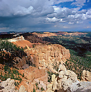 Summer storm approaches Bryce Canyon in southern Utah